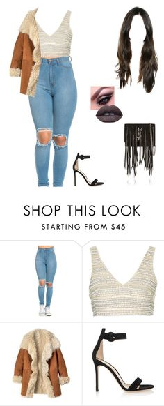 """""""You guys are solid"""" by well-its-jess ❤ liked on Polyvore featuring Topshop, Toast, Gianvito Rossi and Yves Saint Laurent"""