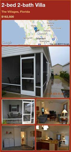 2-bed 2-bath Villa in The Villages, Florida ►$162,500 #PropertyForSale #RealEstate #Florida http://florida-magic.com/properties/77783-villa-for-sale-in-the-villages-florida-with-2-bedroom-2-bathroom