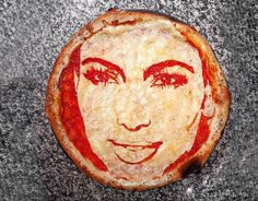 Chef Domenico Crolla, the owner of the Bella Napoli restaurant in Glasgow, Scotland, has created these delicious portraits of celebrities on pizzas.