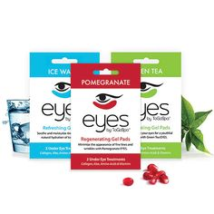 Eyes by ToGoSpa—a mix of collagen, amino acids, aloe, marine minerals, & vitamins sealed in cooling gel pads that easily self-adhere to the face. Daily Beauty Tips, Beauty Secrets, Healthy Beauty, Health And Beauty, Under Eye Mask, Tired Eyes, Lip Mask, Beauty Packaging, Skin Problems