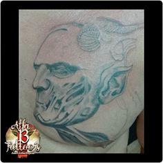 Tattoo no Peito em progresso  1 Sessão