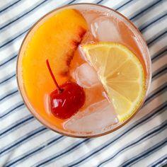 fresh peach and bourbon sour | Garlic + Zest