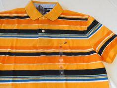 Men's Tommy Hilfiger Polo shirt XL xlarge 7841605 Orange as Swatc 865 knit