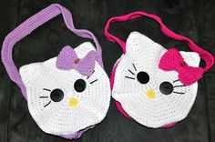Looking for your next project? You're going to love Round Kitty / Cat Face Bag by designer 5Packs Crochet. - via @Craftsy