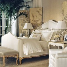 A sitting room— French furniture by Ralph Lauren.   West Household ...