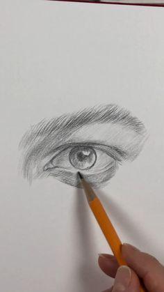 Art Drawings Beautiful, Art Drawings Sketches Simple, Pencil Art Drawings, Realistic Drawings, Skull Drawings, Pencil Sketching, Art Tutorials, Eye Drawing Tutorials, Drawing Tips