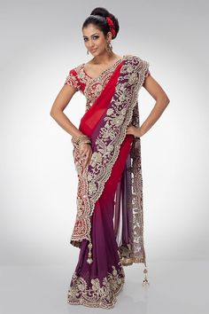 Indian Bridal Wear Saree Collection For Wedding 2015