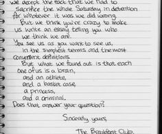 the breakfast club on Pinterest | The Breakfast Club, Breakfast Club ...
