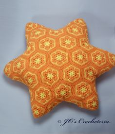 African Flower Starfish Pillow Free Pattern
