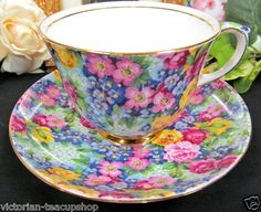 Royal Winton Julia Pattern Chintz Tea Cup and Saucer  