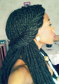 Senegalese Twist With Color | want my Senegalese Twist to look like this! / hair tips - Juxtapost