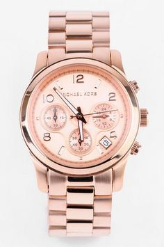 Michael Kors Rose Gold Chronograph Watch in Rosegold.