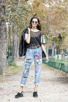 Trends: Sheer, Street Style // Spring fashion 2015: 186 photos of the top 10 trends of the season http://www.fashionmagazine.com/fashion/trends-fashion/2014/10/09/top-spring-2015-trends/