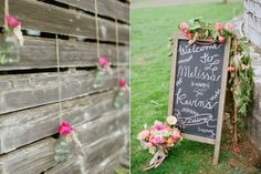hanging wedding decor - photo by Lauren Fair Photography http://ruffledblog.com/stonebrook-farms-bohemian-wedding
