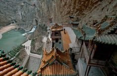 Xuankong Si, China: You really have to trust your engineers when your house is built into the side of a sheer cliff some 75 metres above the ground. Though only a few caretakers still ...