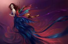 Lady Butterfly by adelenta