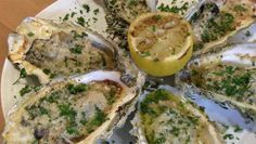 New Recipe: Grilled Oysters on the Half Shell - RecipeChatter Bbq Oysters, Grilled Oysters, Recipe Chatter, Easy Dinner Recipes, New Recipes, Football Snacks, Football Fans, Half And Half Recipes, Oyster Recipes