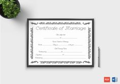 Editable Marriage Certificate Templates (Word and PDF Format) Certificate Format, Wedding Certificate, Gift Certificate Template, Marriage Certificate, Certificate Design, Free Printable Gift Certificates, Award Certificates, Baby Announcement Cards, Business Gifts