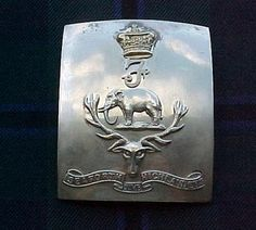 The 3rd Volunteer Bn Seaforth Highlanders Officer's shoulder belt plate. This unit was only in being from 1887 until 1908 so it is rather rare,