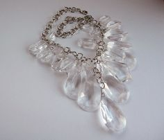 Just listed - RJG (designer Graziano) Faceted Lucite bib! #vjse2 #vintage #jewelry Necklace @Gayla Morrow Esch http://etsy.me/x6Z0YU via @Etsy