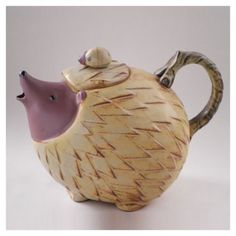 LOVELY HEDGEHOG TEA POT Hand made Pottery Antique Ornament Okimono JPN Made in Antiques, Asian Antiques, Japan, Other Japanese Antiques | eBay