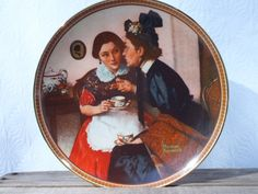 Knowles Norman Rockwell Plate Women by AppalachianVintage on Etsy, $12.00