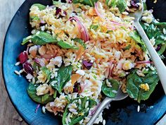 Spinach and Orzo Salad Recipe at Epicurious.com