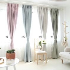 Room Doors, Blackout Curtains, How To Fall Asleep, Bedroom, Simple, Modern, Color, Home Decor, Fabric