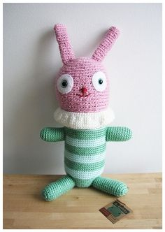 Oh my goodness! This is such a funny little fellow! circus bunny by m patrizio on Flickr.