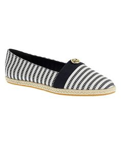 Look at this Soft Style by Hush Puppies Black Stripe Hilary 2 Flat on #zulily today!