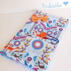 Funda para tablet que van a regalar para una niña que hace la comunión muy prontito!! #piruletablue #case #sew #fabric #colors #orange #blue #mywork #facebook #order #pedidosbonitos #fundatablet