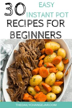 30 Easy Instant Pot Recipes for Beginners – The Daily Change Jar Pressure cooking is such a time-saving cooking method, many households have jumped on the Instapot bandwagon. Are considering (or have already bought). Best Instant Pot Recipe, Instant Recipes, Instant Pot Dinner Recipes, Instant Pot Pot Roast, Recipes Dinner, Pot Roast Recipes, Sausage Recipes, Instant Pot Meals, Instant Pot Chinese Recipes