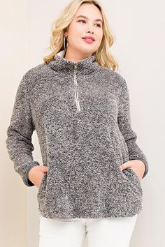 Check out the price on this one! What a deal! PLUS Half Zip Pul... Shop it here now http://www.rkcollections.com/products/plus-half-zip-pullover-fleece-sweater?utm_campaign=social_autopilot&utm_source=pin&utm_medium=pin