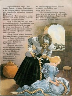 """""""Rapunzel"""" illustrated by F. Phillips from I Racconta Storie No.5"""