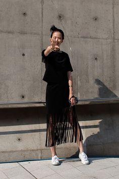 On the street… Seoul fashion week 2016 S/S #flatlay #flatlays #flatlayapp www.theflatlay.com