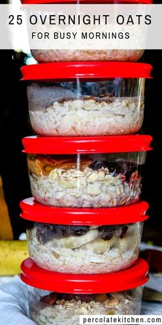 I SO needed this primer on how to make overnight oats! She goes through just how to do it, what kinds of oats you should or shouldn't use, how much milk or liquid, and how to make overnight oats in a Overnight Oats Receita, Low Calorie Overnight Oats, Overnight Oats In A Jar, Best Overnight Oats Recipe, Quick Oat Recipes, Oats Recipes, Healthy Breakfast Recipes, Freezer Recipes, Freezer Cooking