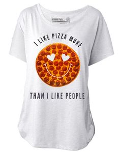 I Like Pizza More Than People Tee: http://shop.nylonmag.com/collections/whats-new/products/i-like-pizza-more-than-i-like-people-tee #NYLONshop