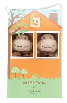"""Share and share alike"" #Angel Dear's new #Cuddle Twins are a perfect gift for a new born. Two identical blankies are housed in an adorable,  reusable box."