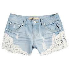 denim shorts lace - Google zoeken
