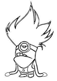 Minions Coloring Page Printable Colouring Easy