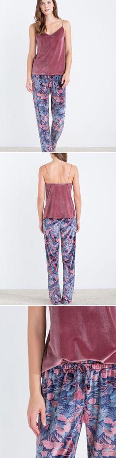 2191dc84d1 Velvety oriental inspired pyjama Pijamas De Dama