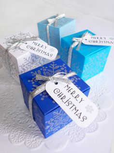 Christmas Gift Boxes #winterwedding #giftboxes #handmade #christmasgift