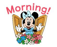 With Tenor, maker of GIF Keyboard, add popular Minnie Mouse animated GIFs to your conversations. Share the best GIFs now >>> Good Morning Gif Images, Good Morning Picture, Good Morning Greetings, Good Morning Wishes, Good Morning Good Night, Morning Pictures, Good Morning Messages, Morning Pics, Mickey Mouse And Friends