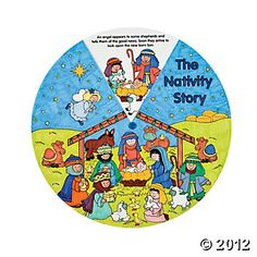 Color Your Own Nativity Wheels, Color Your Own, Crafts for Kids, Craft & Hobby Supplies - Oriental Trading