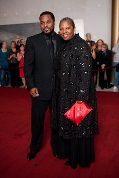 Malcolm Jamal-Warner and his mother