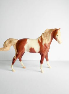 Breyer Horse Toy White and Brown Mare. $25.00, via Etsy.