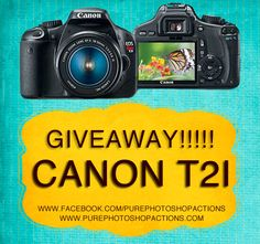 So, these chicks rock: Canon T2i GIVEAWAY!!! Pure Photoshop Actions is giving away a camera!!!