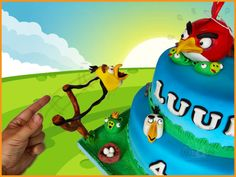 Angrybirds Crazyness - Cake by Dirk Luchtmeijer