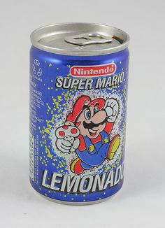 Never knew there was Mario lemonade in a can... Something tells me it wasn't very good.