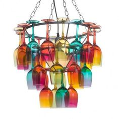 Image result for inventive colourful chandelier